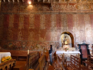 17th-century murals at the Chapel of Canincunca, Quispicanchis, Cuzco, Peru. Photo by Ananda Cohen Suarez